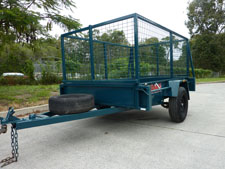Caged trailer rental available for hire at Premier Car Rentals, Hope Island, Runaway Bay, Coomera, Gold Coast