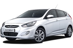 Hyundai Accent Hatchback 5 Door rental car for hire at Premier Car Rentals, Hope Island, Runaway Bay, Coomera, Gold Coast