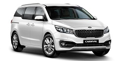 family kia carnival rental available for hire at Premier Car Rentals, Hope Island, Runaway Bay, Coomera, Gold Coast