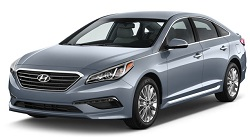 Hyundai Sonata 4 Door Sedan rental car available for hire at Premier Car Rentals, Hope Island, Runaway Bay, Coomera, Gold Coast