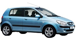 Hyundai Getz for hire at Premier Car Rentals, Hope Island, Runaway Bay, Coomera, Gold Coast