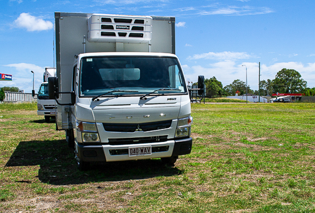 Canter Fuso Refrigeration truck available for hire at Premier Car Rentals, Hope Island, Runaway Bay, Coomera, Gold Coast